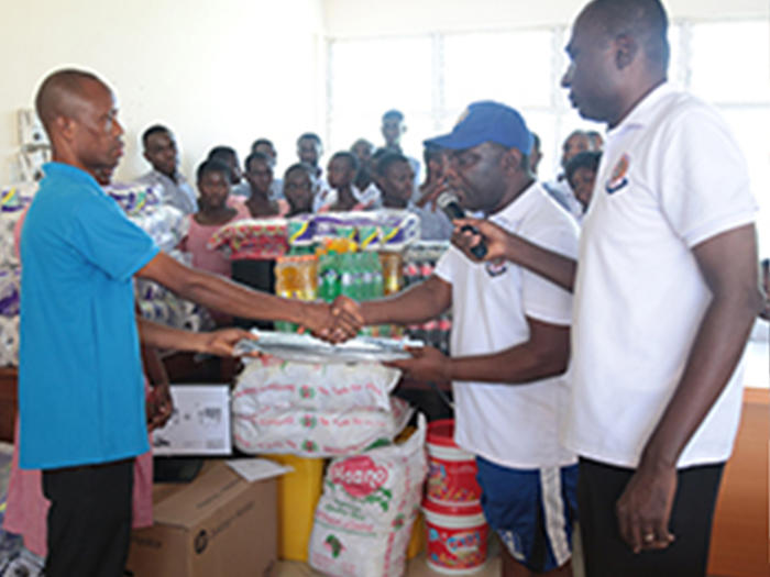 DIRECTORATE OF FINANCE WELFARE ASSOCIATION DONATES TO CAPE COAST SCHOOL FOR THE DEAF